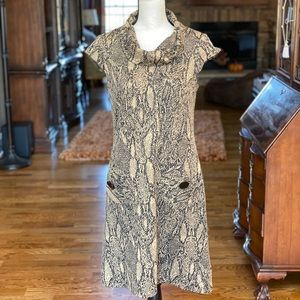 R&K Originals Tan snakeskin Pattern Dress